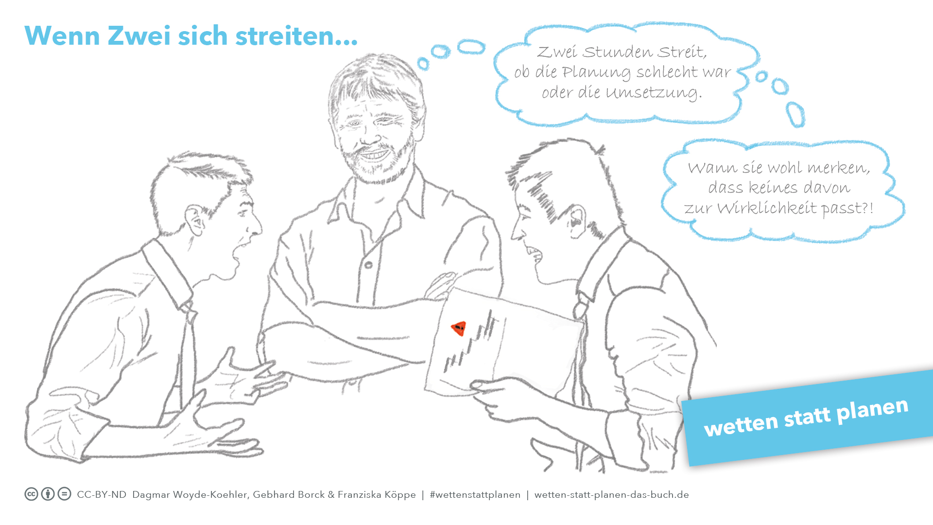 Illustration einer Diskussionsrunde